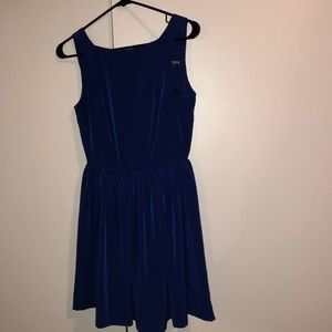 American Apparel Blue Fit and Flare Dress